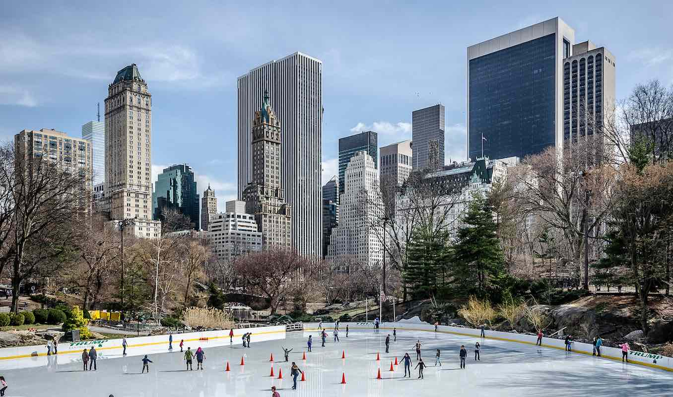 wollman rink in the winter at central park manhattan new york city ny
