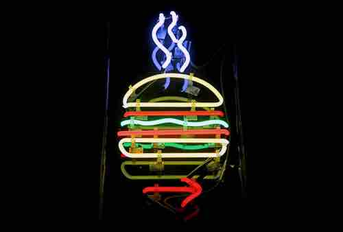burger joint sign parker new york central park south new york city ny