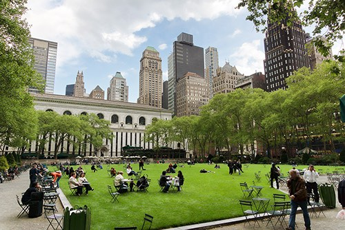 bryant park lawn midtown manhattan new york city ny