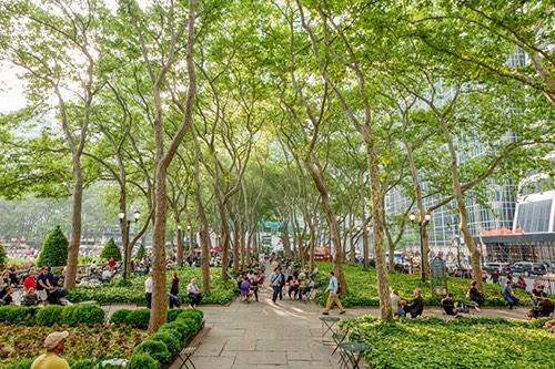 bryant park walkway midtown manhattan new york city ny