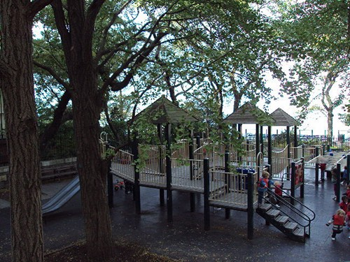 Pierrepont Playground from a distance brooklyn heights brooklyn new york city ny