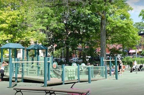 Wide photo J.J. Byrne Playground Park Slope Brooklyn New York City NY