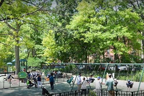 Copy of swings J.J. Byrne Playground Park Slope Brooklyn New York City NY