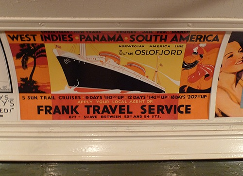 (photo Mark Hogan) Old ad at New York City Transit Museum Brooklyn New York City NY
