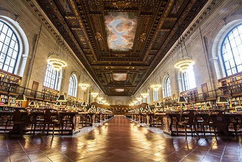 Copy of reading room at the new york public library entrance midtown new york city ny