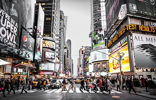 (photo aaron-sebastian) times square midtown manhattan new york city ny