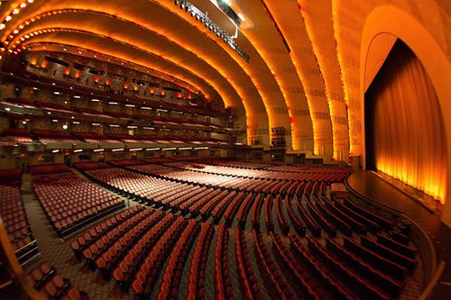 theater at radio city marquee midtown manhattan new york city ny