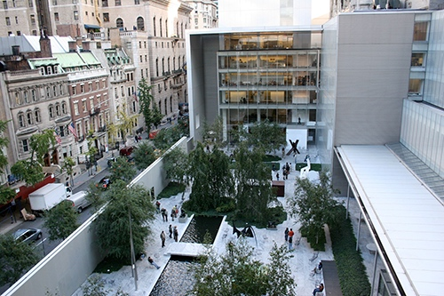 garden at MOMA museum of modern art exhibit midtown manhattan new york city ny