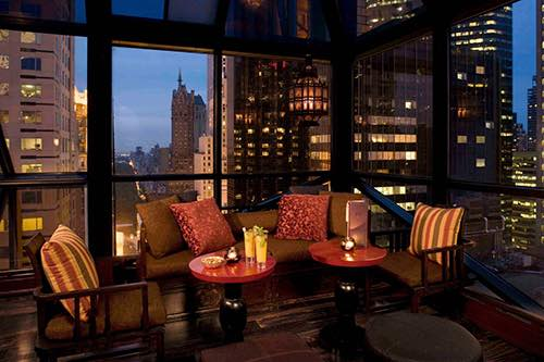 view from salon de ning at the peninsula hotel fifth avenue midtown manhattan new york city