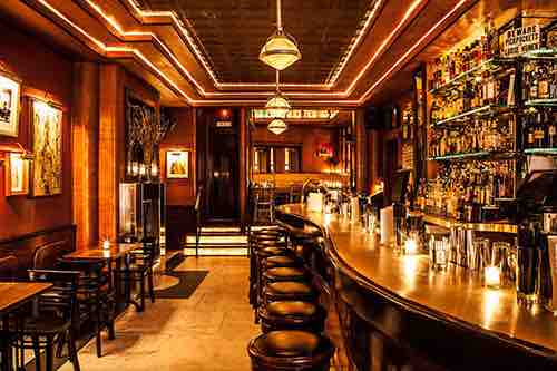 Copy of wooden bar at employees only manhattan new york city ny
