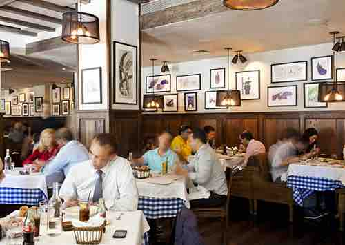 crowd at maialino brunch gramercy park hotel manhattan new york city ny