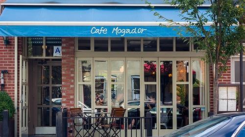 exterior at cafe mogador williamsburg brooklyn new york city ny