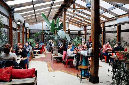interior at cafe mogador williamsburg brooklyn new york city ny