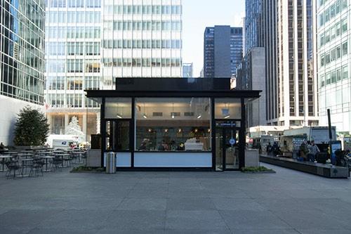 bluestone lane exterior bryant park midtown 6th avenue manhattan new york city ny
