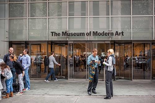 museum of modern art exterior street midtown manhattan new york city ny