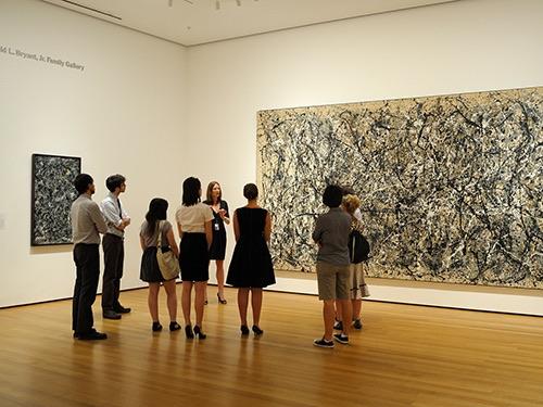 tour at  museum of modern art exterior street midtown manhattan new york city ny