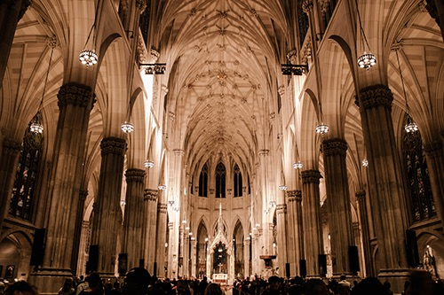 st patricks cathedral 6th avenue midtown manhattan new york city ny