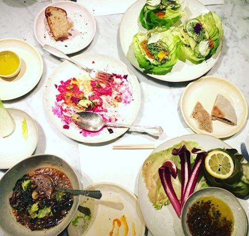 abcV vegan restaurant food spread flatiron manhattan new york city ny