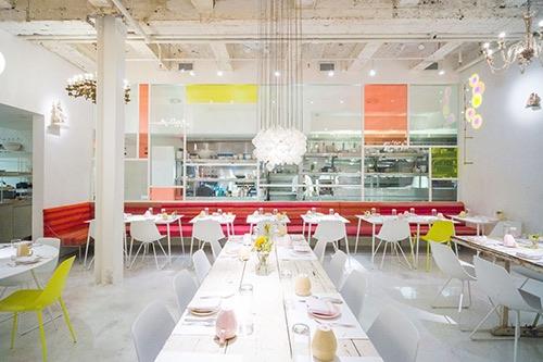 interior at abcV vegan restaurant flatiron manhattan new york city ny