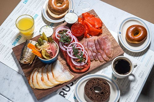 russ and daughters platter jewish museum manhattan new york city ny