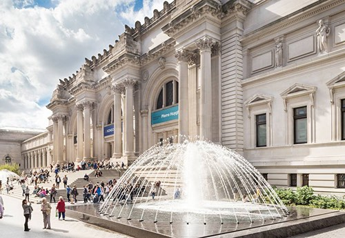 exterior of met museum of art upper east side manhattan new york city ny