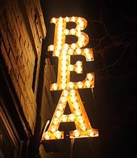 bea sign theatre district midtown manhattan new york city