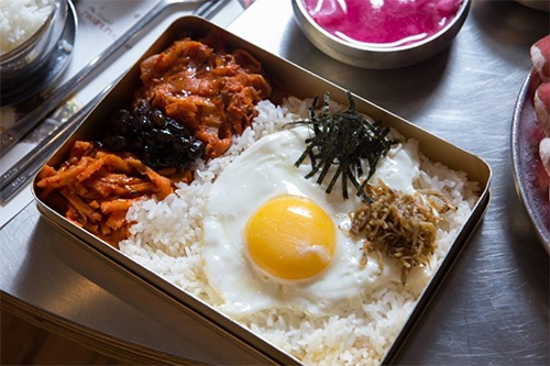 dish at Baekjeong korean bbq in koreatown midtown manhattan new york city ny