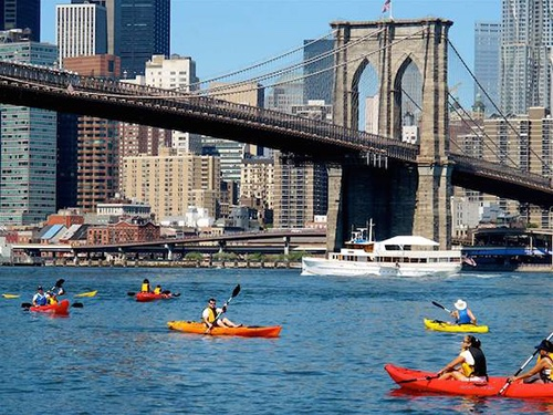 brooklyn bridge park kayaking free new york city ny