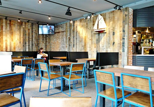 interior at shake shack dumbo brooklyn bridge park brooklyn new york city ny