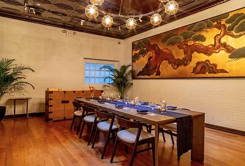 interior at sushi azabu tribeca manhattan new york city ny