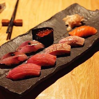 sushi board at sushi azabu tribeca manhattan new york city ny
