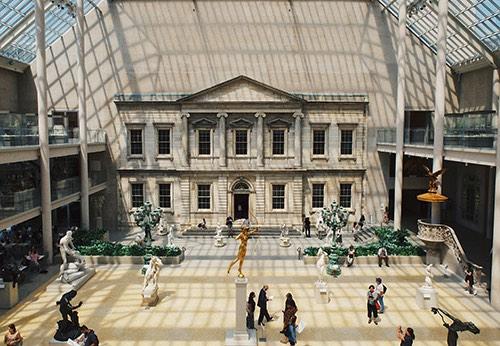 atrium at the metropolitan museum of art manhattan new york city