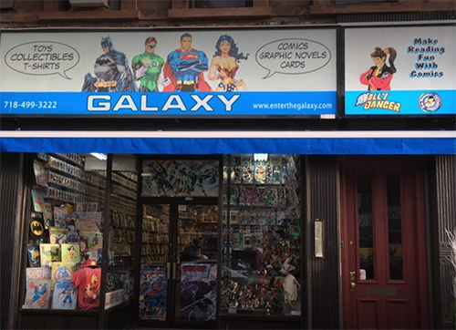 exterior at galaxy collectibles comic book store park slope brooklyn new york city ny