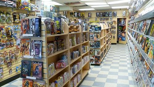 interior at galaxy collectibles comic book store park slope brooklyn new york city ny