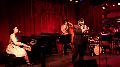 piano stage at birdland jazz club midtown manhattan new york city