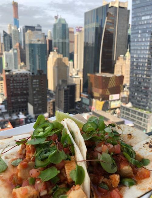 dish at sky room midtown manhattan new york city, ny