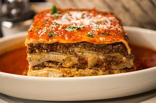 lasagna at carmines italian times square midtown manhattan new york city ny
