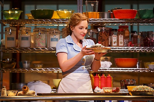 waitress at brooks atkinson theater times square midtown manhattan new york city ny