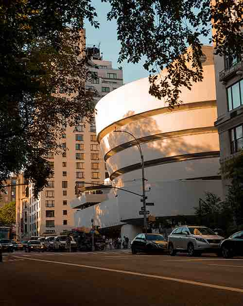 guggenheim exterior upper east side manhattan new york city ny