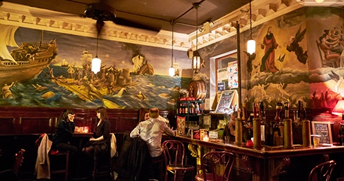 burb castle bar interior st marks place east village new york city ny