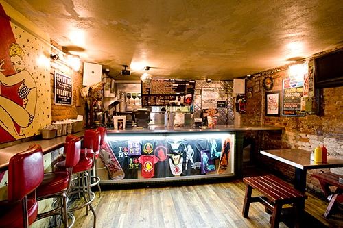 interior at crif dogs at please don't tell st marks place east village new york city ny