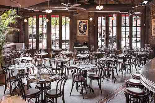 interior at boucherie west village new york city ny