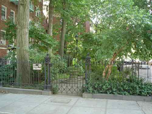 entrance to minetta triangle west village new york city ny