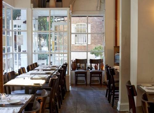 interior at casa restaurant bedford street west village manhattan new york city ny