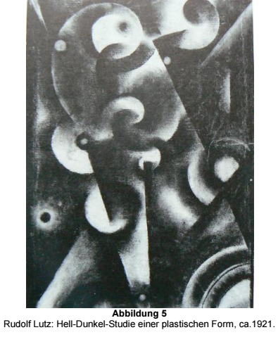 Rudolf Lutz, Light-Dark study of a plastic form, ca. 1921