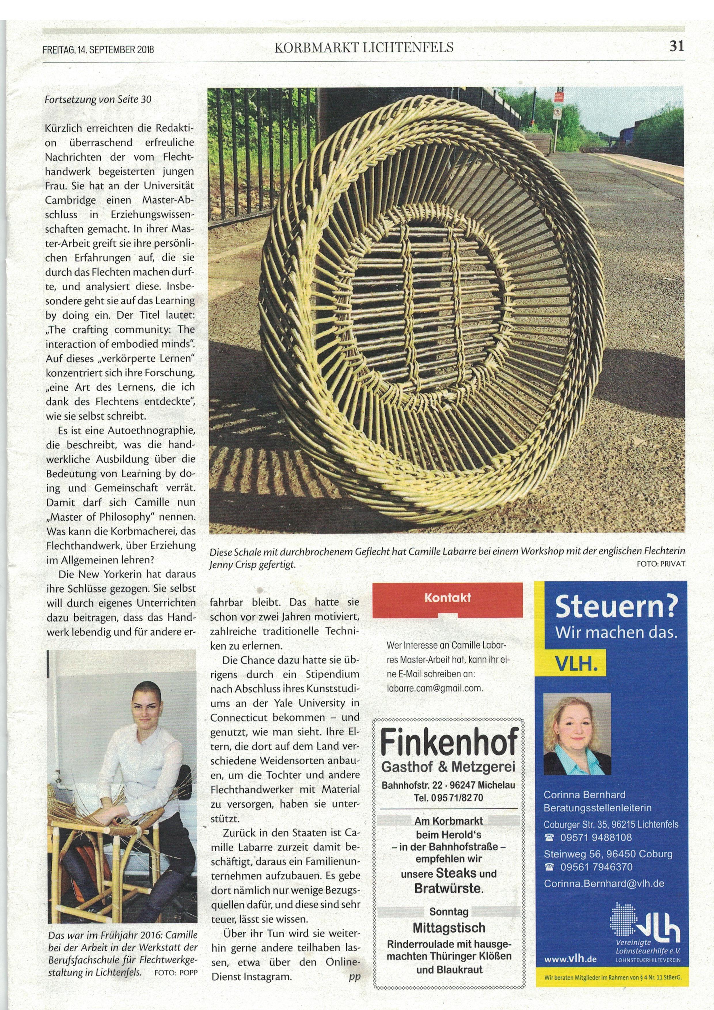 Korbmart Lichtenfels, September 14 2018