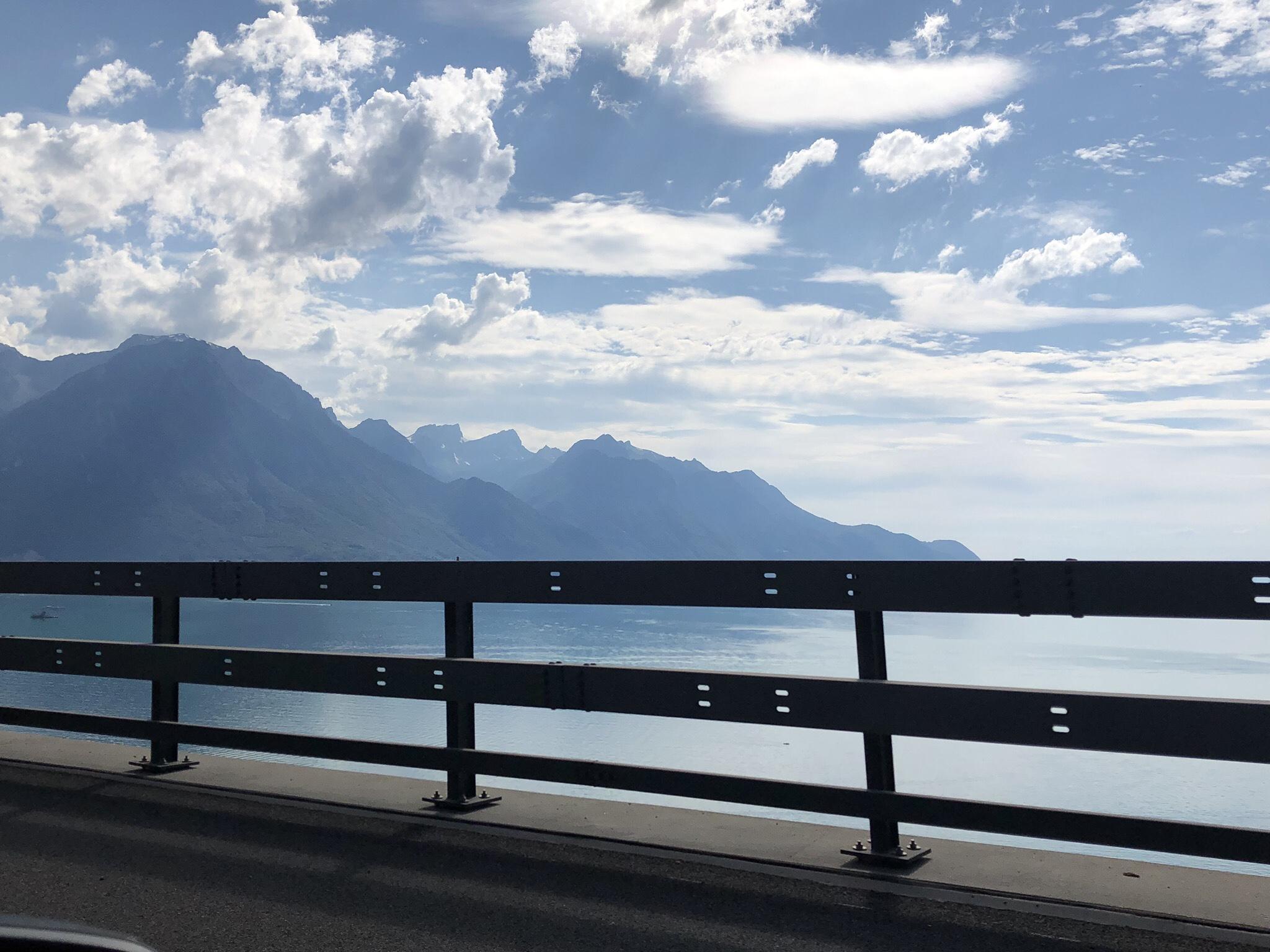 Genevesjön, sett från den Schweiziska-sidan.