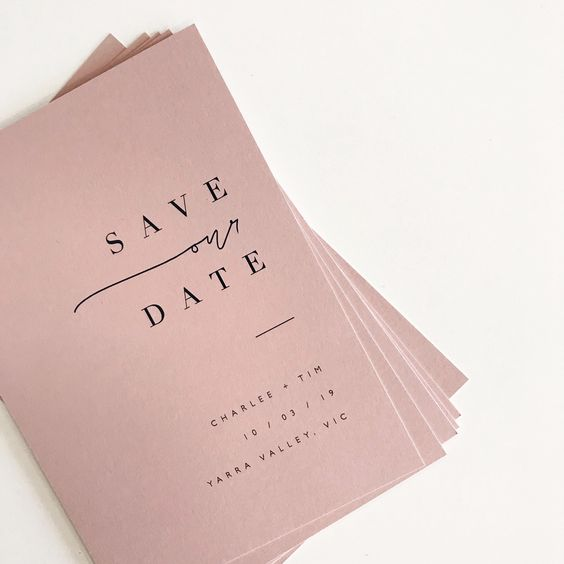 save the date - wedding blog - Pinterest