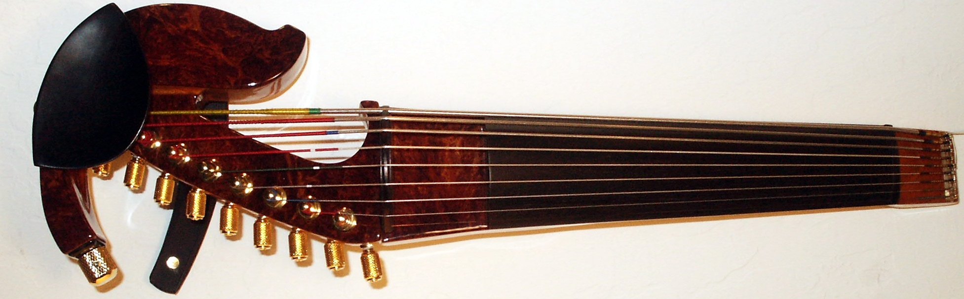 Redwood Burl Faced Nine String Violin High Res.JPG