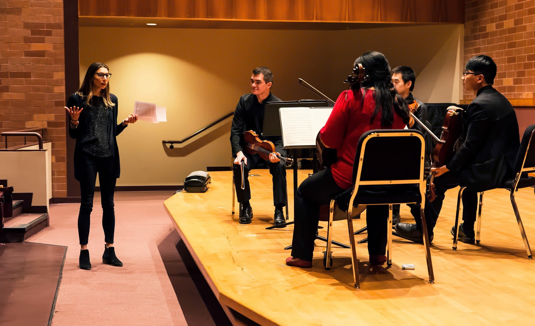 Masterclass with students at Oklahoma State University